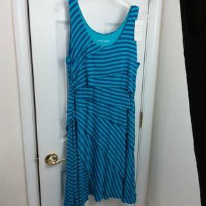 Soft Surroundings Striped Dress Sz L NWT